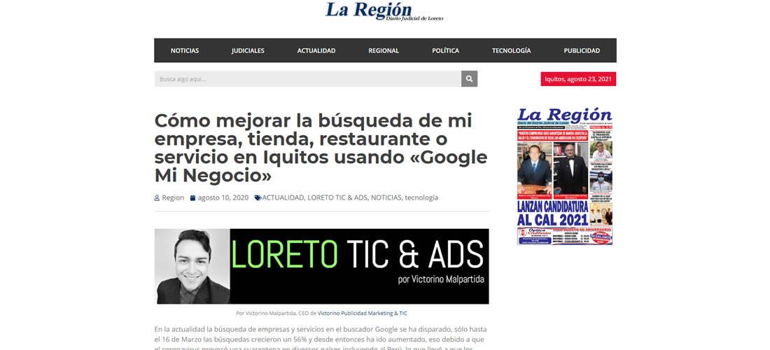 Victorino Publicidad, Marketing & TIC | Publicidad - Diario La Región
