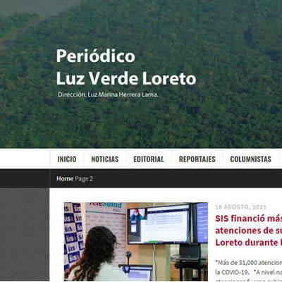 Publicidad en Periódico Luz Verde de Loreto - Victorino Publicidad